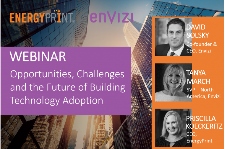 Envizi EnergyPrint webinar banner - Future of Building Technology